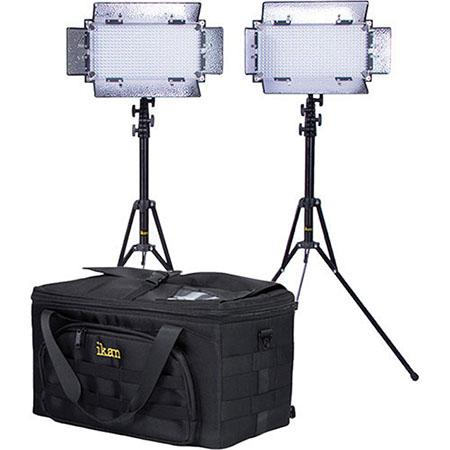 iKan Kit with 2 x IB508-v2 Bi-color LED Studio Light